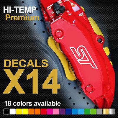 Ferrari 458 F12 Compatible Vinyl Brake Caliper Decals