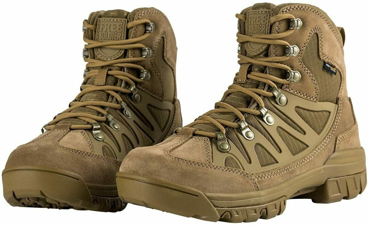 FREE SOLDIER Men's Tactical Boots 6 Inches, Coyote Brown, Size 10.5