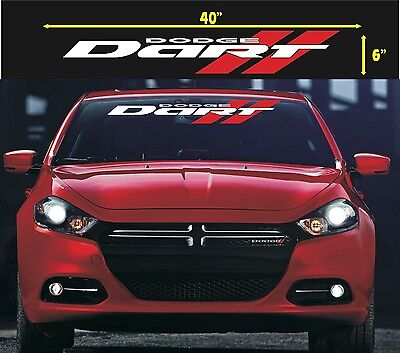 DODGE DART WINDSHIELD VINYL DECAL STICKER silver /& red colors