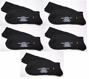 (5) Pairs Wool Blend Socks LARGE Military Issue Black Fits 10-12 MADE-IN-THE-USA