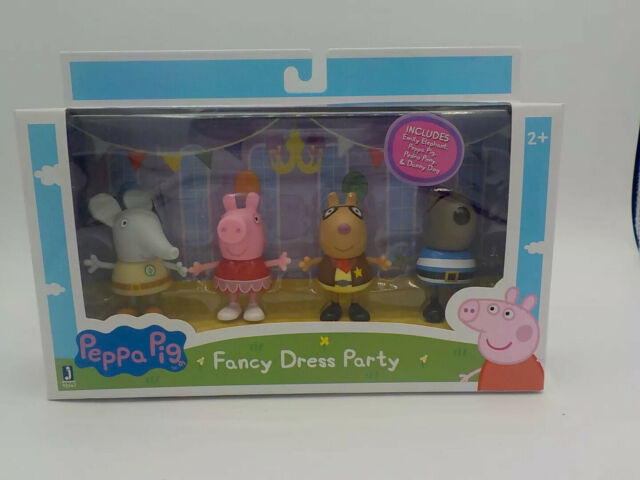 Emily Elephant, Danny Dog /& Pedro Pony NEW Peppa Pig Fancy Dress Party 4 Pack