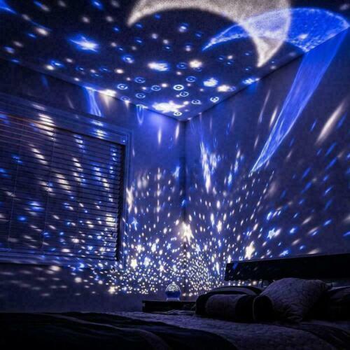 USB Operated Projector LED Rotating Nightlight Star Moon Night Light Sky Lamp RD