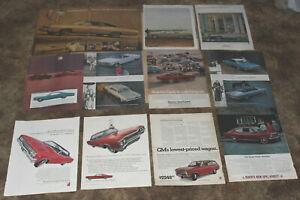 Lot of 11 Vintage 1960s 1970 ADs Retro Mercury Buick Classic Hot Rod Advertising