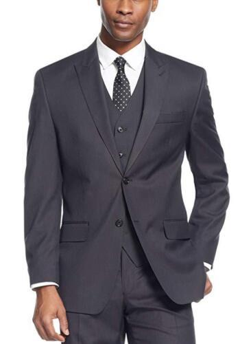 $275 Sean John Classic Fit Black Diamond Textured Two Button Blazer Sportcoat