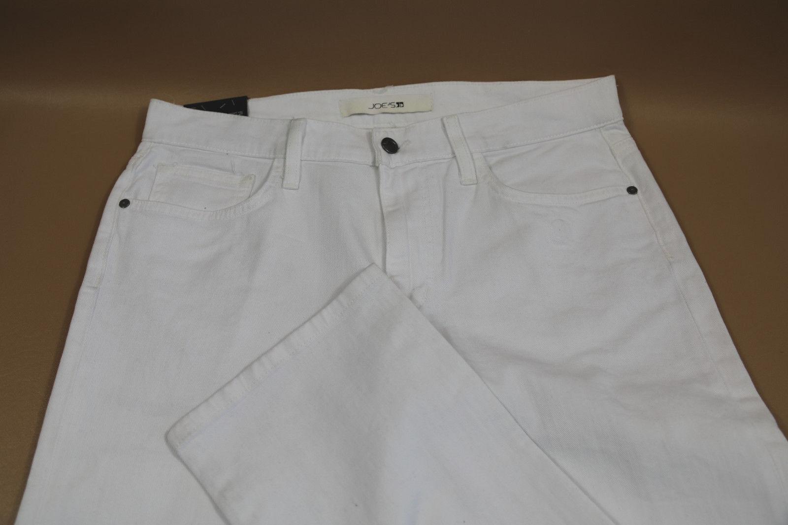 JOE'S The Brixton White Cotton Pants Size 32x34
