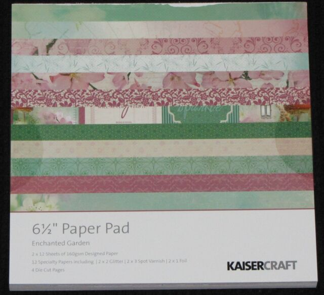 "Kaisercraft 'ENCHANTED GARDEN' 6.5"" Paper Pad KAISER *Deleted 2 LEFT ONLY*"