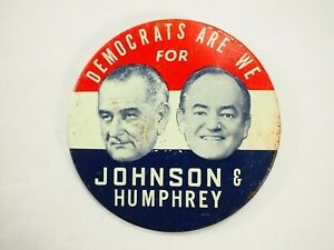 Democrats-Son-Nosotros-para-Johnson-amp-Humphrey-Politico-Campaign-Boton-Pin-7-6cm