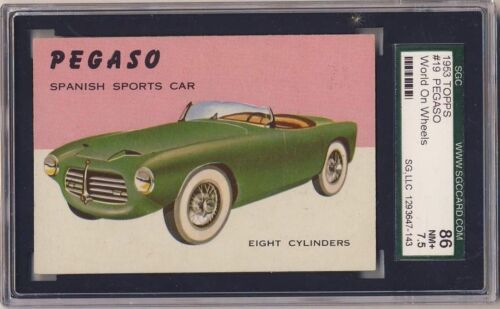 1953 TOPPS World on Wheels #19 Pegaso NM+ SGC 86 7.5