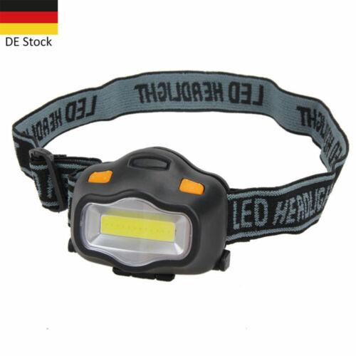 COB LED Stirnlampe Taschenlampe Kopflamp Stirnleuchte Außen Licht Headlight DE