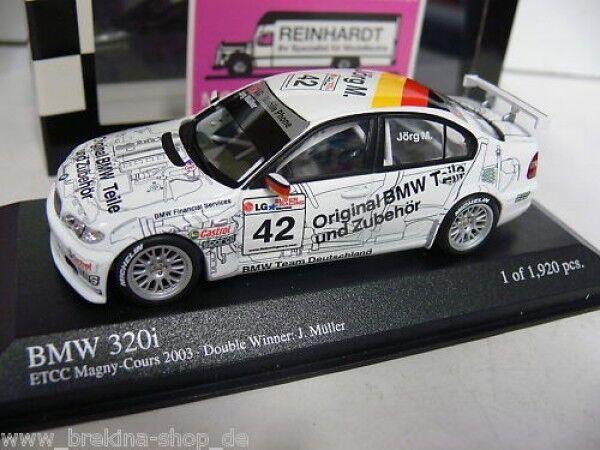 1 43 MINICHAMPS BMW 320i ETCC Magny Cours J. Müller  42 400032442