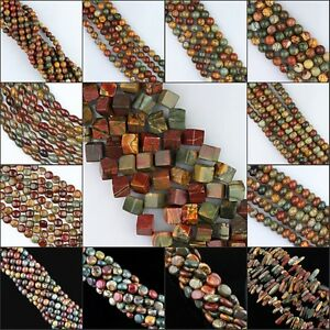 Natural-Picasso-Round-Ball-Coin-Oval-Tube-Square-Rice-Abacus-Sticks-Loose-Beads
