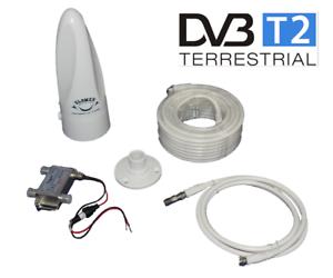 Avior GLOMEX Outdoor Digital TV DVB-T2 HD Antenne Boot Yacht UKW NEU