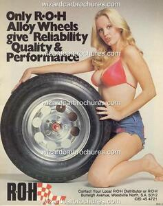 1981 Roh Wheels Holden Ford Sexy Hot Bikini Girl A3 Poster