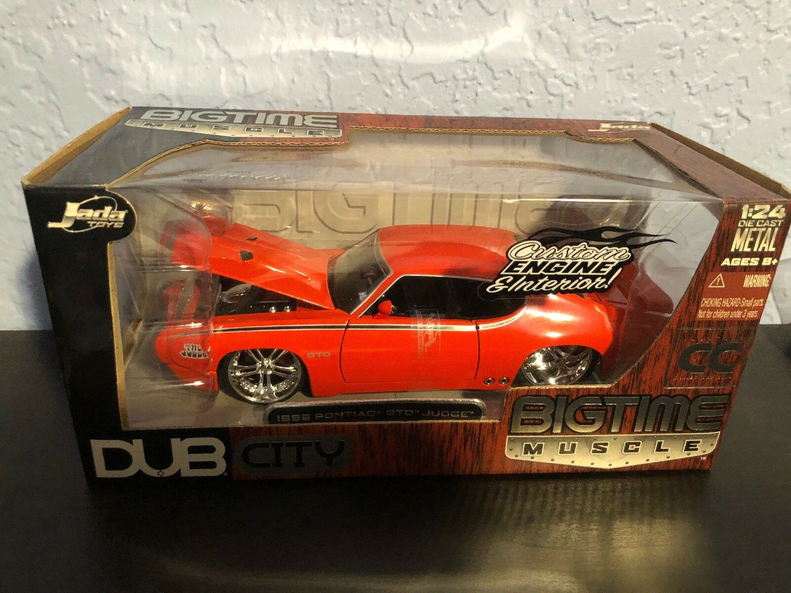 1969 Pontiac GTO GTO GTO Judge 1 24 Scale Jada Dub City Bigtime Muscle Collectors Club 165cf1