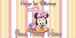 Image Is Loading Birthday Banner Personalized 4ft X 2 Ft Disney