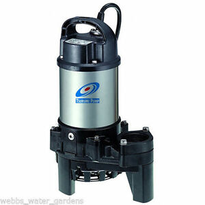 Tsurumi 8pn 1 hp submersible pond pump ebay for Best rated pond pumps