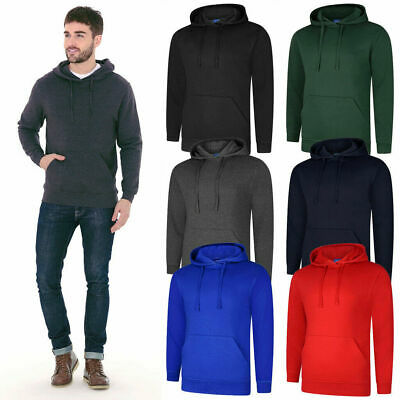 Mens Plain Classic Hooded Sweatshirt Size XS to 4XL SPORTS /& CASUAL HOODIE 502