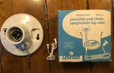 NOS No 29816-C LEVITON Top Wired PORCELAIN PULL CHAIN LAMPHOLDER