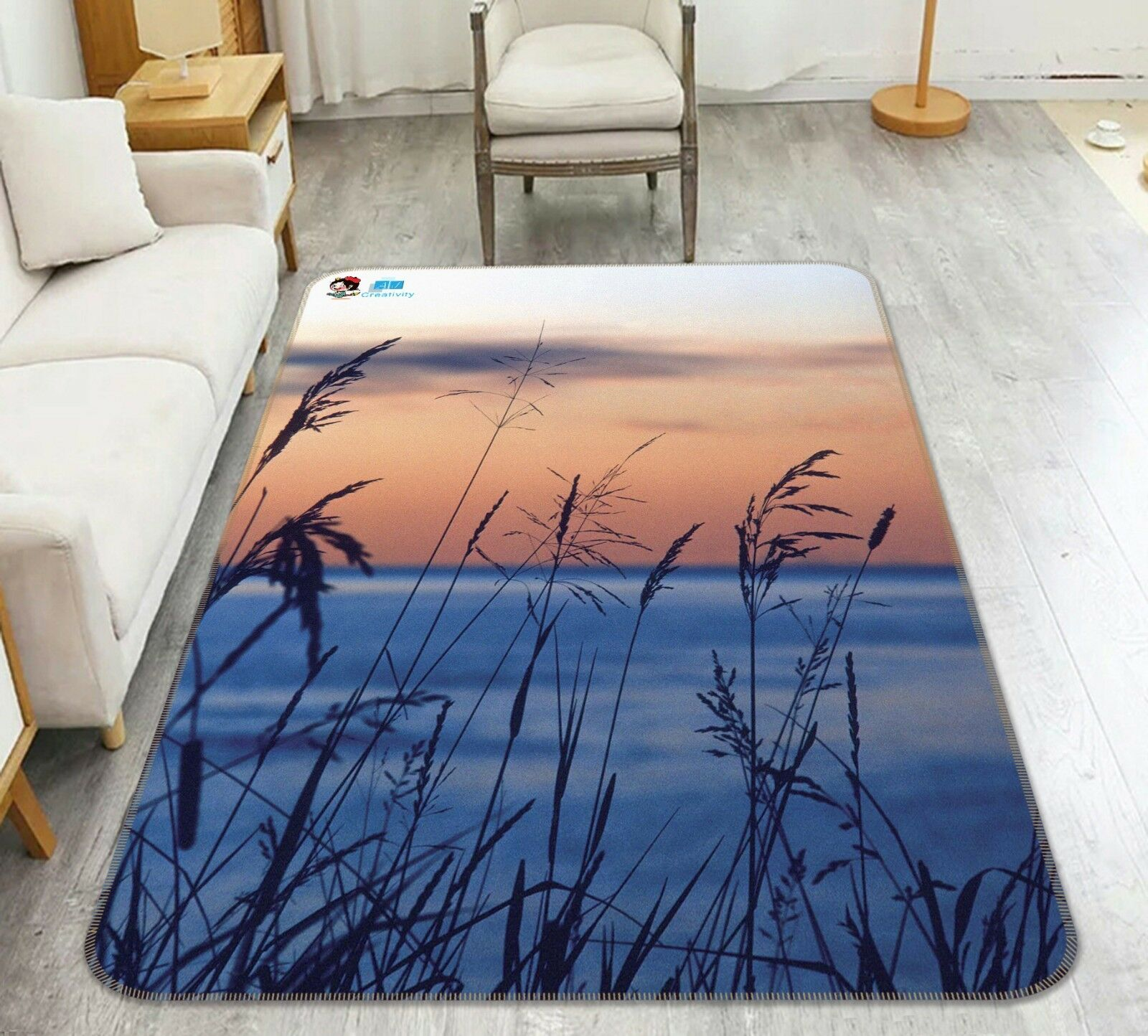 3D Reed River Sky 02 Non Slip Rug Mat Room Mat Quality Elegant Carpet US Cobb