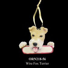 Wire Fox Terrier Christmas Dog Ornament Santa's Pals Personalized Name Plate #56