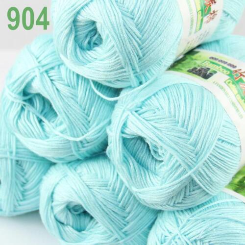 C New 6Ball X 50g Soft Smooth Baby Bamboo Cotton Knitting Yarn DIY Knitwear 04