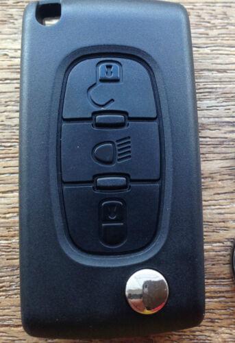 Citroen Dispatch Grand Picasso 3 Button Flip Key Fob Case Repair  C4lsng