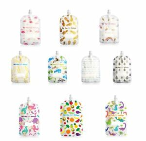 NEW-Sinchies-Baby-Food-Reusable-Squeeze-Pouches-Refillable-Bag-5-Pack-150ml-Kids