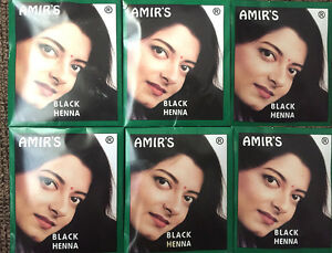 Amir S Black Hair Color With Henna 6 Pouches 10 Grams Each Brand
