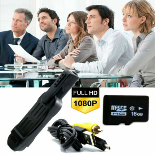 UK Hidden Spy Camera Meeting Pen 1080P Covert Video Recording Recorder+16GB Card