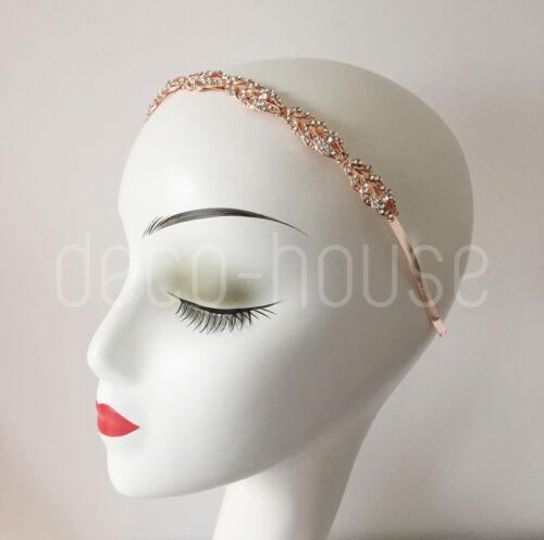 Strass Diamante nuziali Copricapo diadema Flapper 20 S Gatsby Fascia Per Capelli Matrimonio