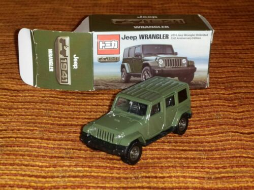 # TOMY TOMICA 2016 JEEP WRANGLER UNLIMITED 75th ANNIVERSARY EDITION MIB #