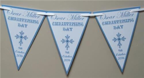 Personalised 1st Holy Communion Bunting Banner Party Decoration Cross Girl Boy