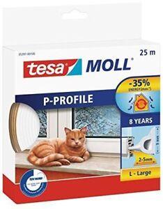 Tesa Moll Guarnizione X Porte E Finestre Profilo P In Gomma 25m X Spessore 2-5mm Rendre Les Choses Commodes Pour Le Peuple