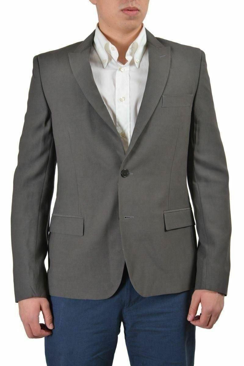 Versace Collection Herren Grau Schurwolle Sport Mantel Blazer Us 38 It  | Produktqualität  | Berühmter Laden  | Wirtschaft
