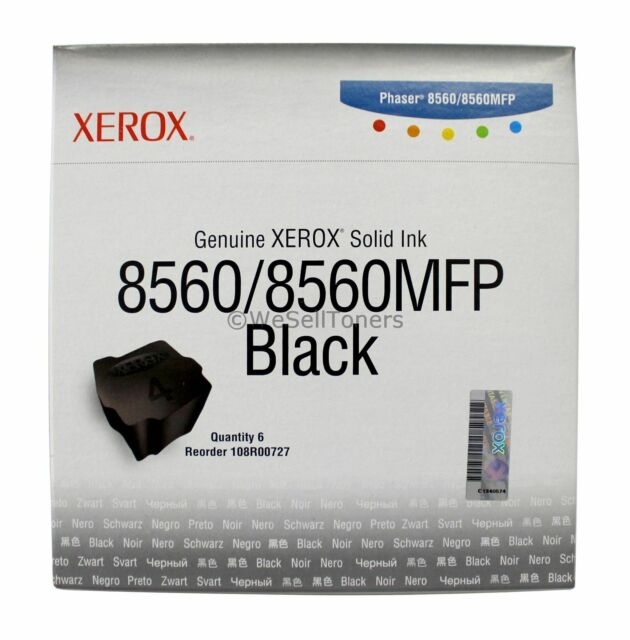 Xerox 108R00727 Black Solid Ink Phaser 8560 Genuine New Sealed Box