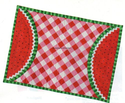 A Slice Of Summer Quilt Pattern Pieced//Applique CA Place Mat Napkin