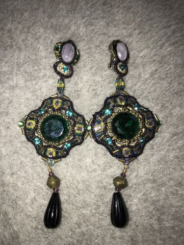 Fabulous 1980s Huge Chandelier Earrings Erickson B
