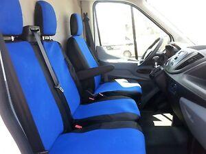 Coprisedili Blu Nero Salva Sedili Fodere 2+1 Per Ford Transit Custom Furgonato