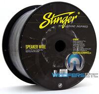 Stinger Spw516bk Black 16 Awg Gauge 500 Feet Premium Ofc Copper Speaker Wire