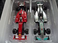 Carrera Go F1 Auto Set Ferrari SF15 Vettel No5 vs Mercedes Hamilton No44 Slotcar