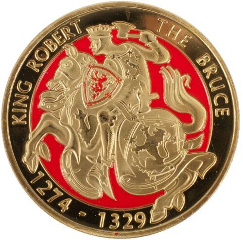 40 mm souvenir coin avec le roi Robert Bruce cheval design sur un côté