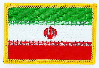 IRAN FLAG PATCH BADGE IRON ON NEW EMBROIDERED