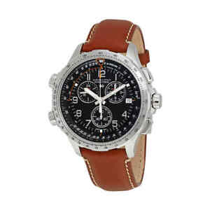 Hamilton-X-Wind-Chronograph-Black-Dial-Men-039-s-Watch-H77912535