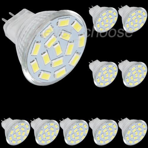 10x MR11 GU4 LED Birne 12//15//24 5730 SMD Lampe Spot Licht Leuchtmittel 1.6//2//3W