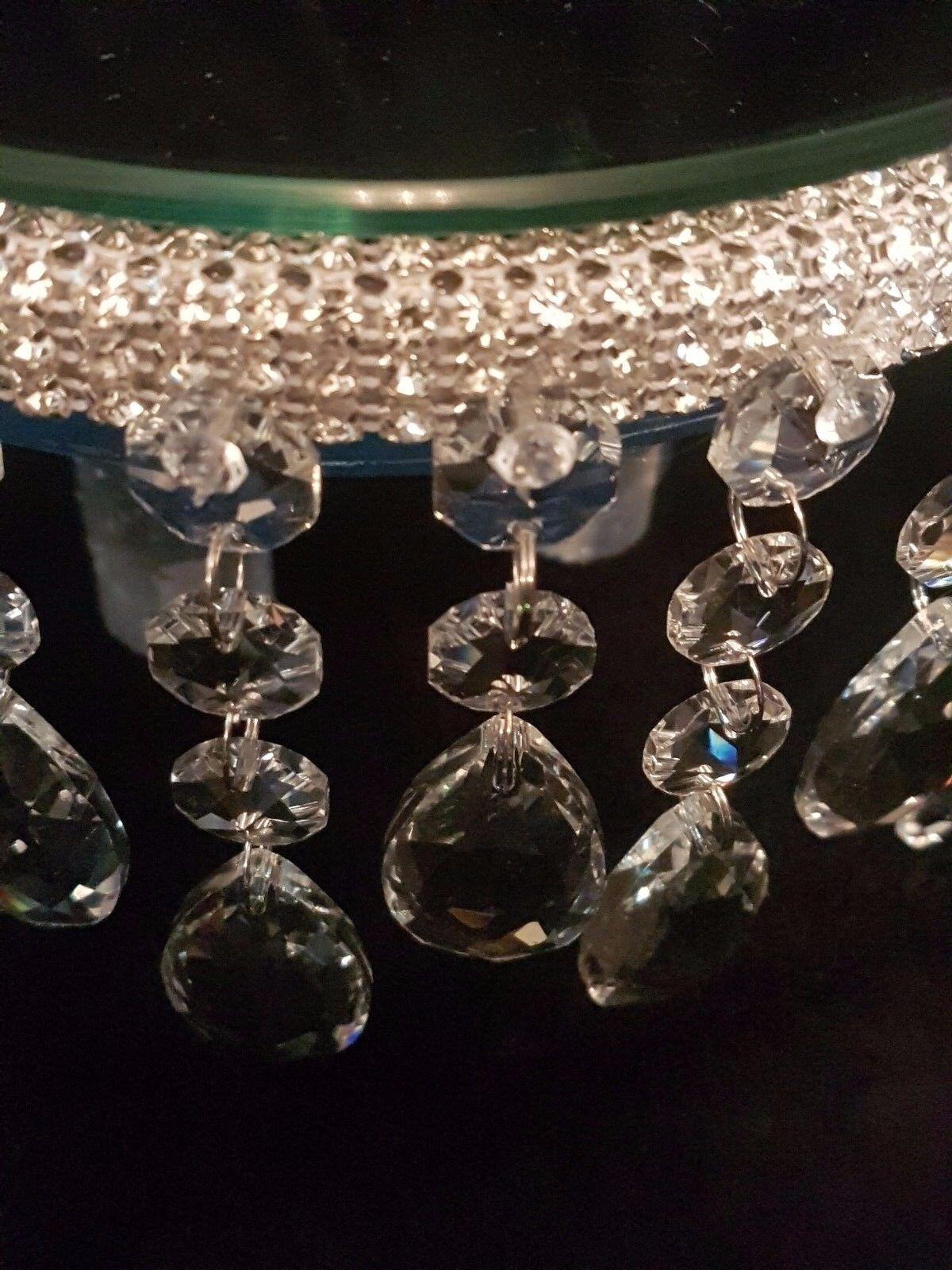 Crystal Crystal Crystal Gouttelette Cake Stand/Séparateur-faire défiler pour voir Clip Vidéo | Dans De Nombreux Styles  eca74c