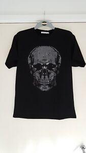 Raison-Homme-Rivets-Crane-Design-T-Shirt-NEUF-avec-etiquettes-taille-M