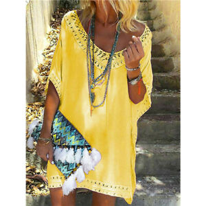 Summer-Bikini-Cover-Up-Sarong-Dress-Swimwear-Kaftan-Lace-Beach-Wear