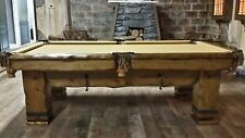 Grizzly 9' Hand-Crafted Rustic Log Pool Table Billiard Table for Log Home/Cabin