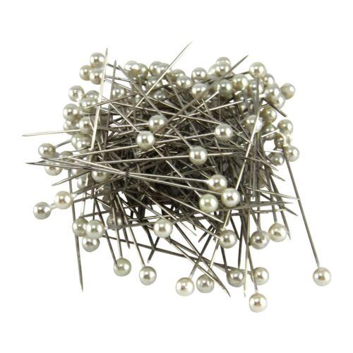 100x 5mm Pearl Pins Corsage Buttonhole Florist Wholesale Bulk