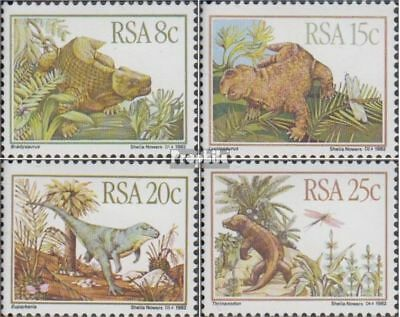 Cancelled 1982 Prehistoric An complete.issue. South Africa 622-625 Fine Used